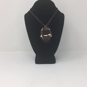 Copper and Gold Tone Pendant Necklace